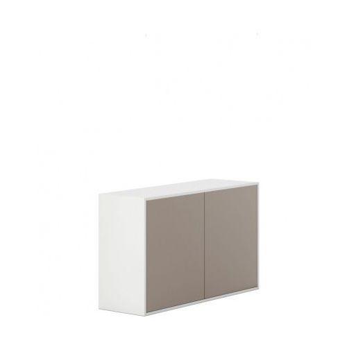 Plan Szafka z drzwiami white layers, jasnobrązowe drzwi