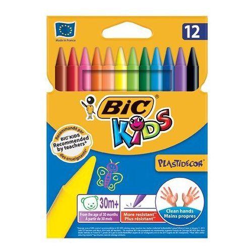 Kredki świecowe plastidecor®, 12 kolorów - autoryzowana dystrybucja - szybka dostawa marki Bic