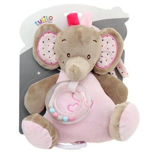 Pozytwka New Baby Słonik różowy 18 cm (5902002077064)