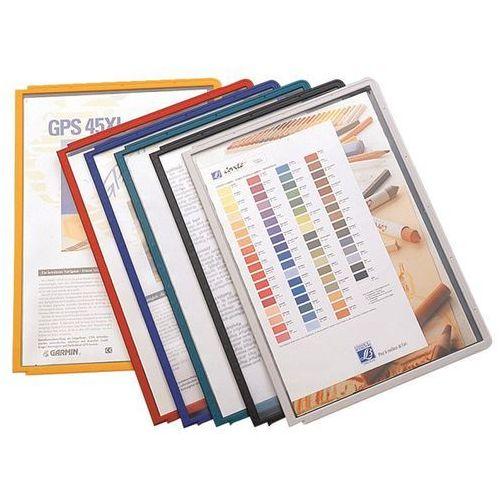 Tablice przezroczyste z ramą profilowaną, posortowane kolorystycznie, opak. 10 s