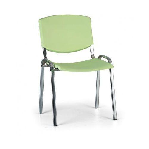 Krzesło konferencyjne Smile, zielony - kolor konstrucji chrom