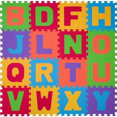 BabyOno Puzzle piankowe 16szt. LITERY 6m+ z kategorii Puzzle