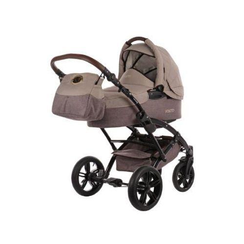 wózek dziecięcy voletto happy colour beżowy-brązowy marki Knorr-baby