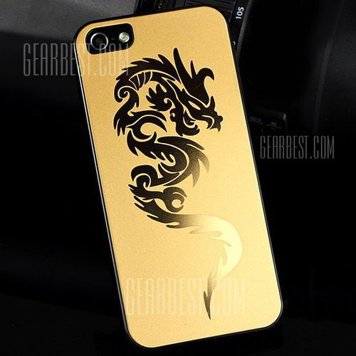 Plastic hard case with fashion embossment chinese dragon style for iphone 5 / 5s wyprodukowany przez Gearbest