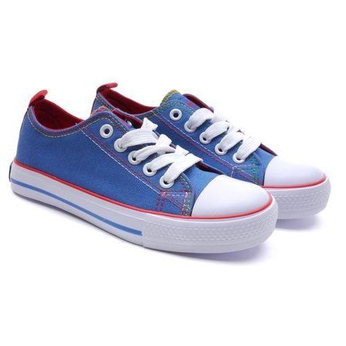 Półtrampki dziecięce  lh-16-dsln-05-1/2 niebieski 33 niebieski marki American club