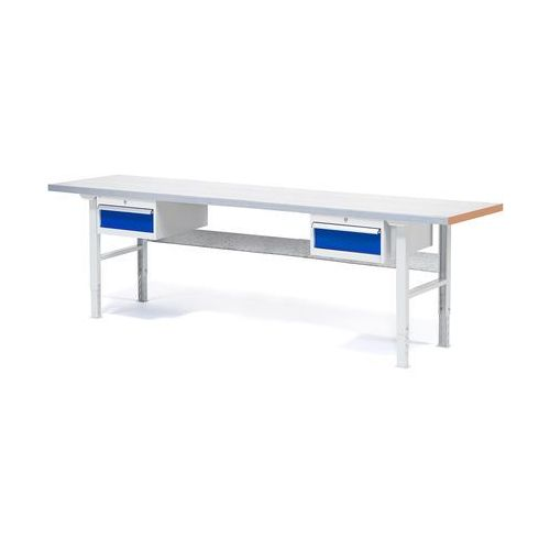 Stół warsztatowy z 2x 1szuflada z blatem o powierzchni stalowej obciążenie 500kg, 232130