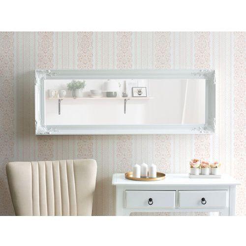 Beliani Lustro ścienne białe 51 x 141 cm vars