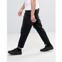 Religion Slim Jeans With Rips In Washed Black - Black, jeans