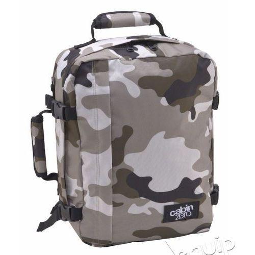 Plecak torba podręczna CabinZero mini + pokrowiec organizer gratis - grey camo, kolor szary