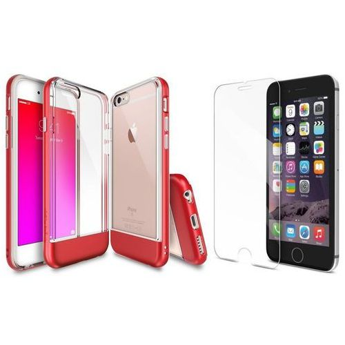 Rearth / perfect glass Zestaw | rearth ringke old frame fire red | obudowa + szkło ochronne dla modelu apple iphone 6 / 6s