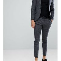 super skinny suit trousers in dogstooth fleck - grey marki Heart & dagger