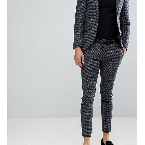super skinny suit trousers in dogstooth fleck - grey marki Heart & dagger