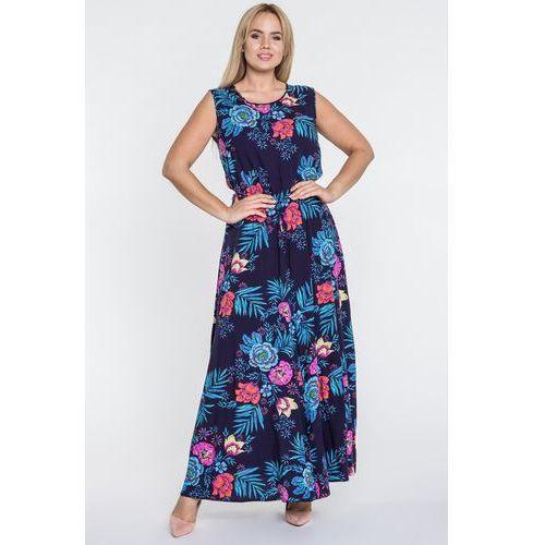 Sukienka maxi w kwiaty - marki Jelonek