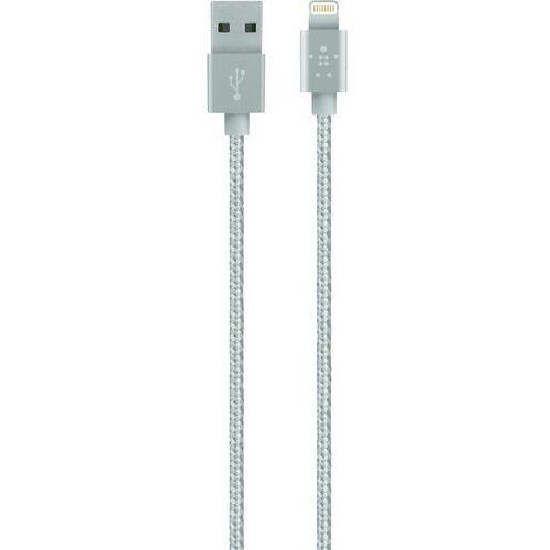 Kabel do iPad/iPhone/iPod Belkin F8J144bt04-SLV, [1x złącze męskie USB 2.0 A - 1x złącze męskie Apple Dock Lightning], 1.20 m, F8J144bt04-SLV