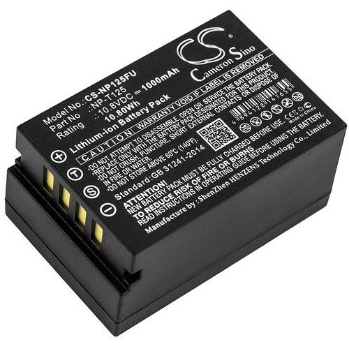 Fujifilm Medium Format GFX / NP-T125 1000mAh 10.80Wh Li-Ion 10.8V (Cameron Sino), CS-NP125FU