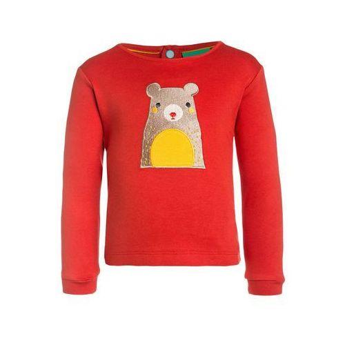 Little Green Radicals THE BEAR NECESSITIES APPLIQUÉ Bluzka z długim rękawem red (5055770056707)