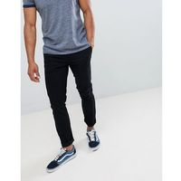 Burton Menswear skinny fit chino in black - Black