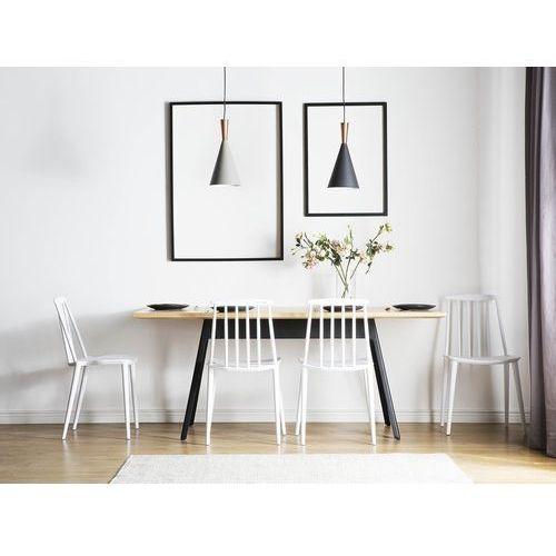 Krzesło do jadalni białe ventnor marki Beliani