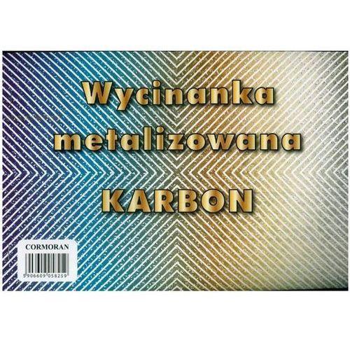 Cormoran Wycinanka matalizowana a5 karbon