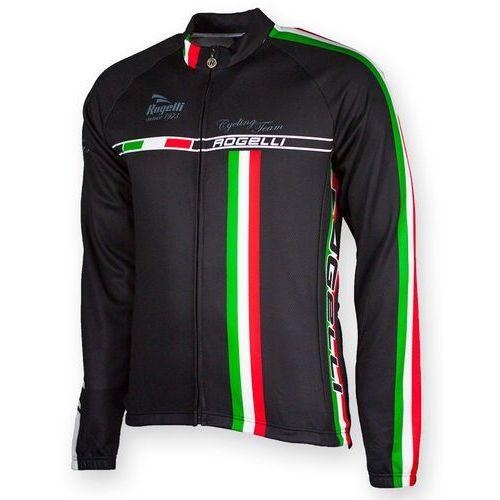 Koszulka z długim rękawem Rogelli Team czarna (2010000570159)