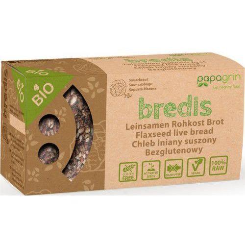 Papagrin (przekąski raw) Chleb lniany suszony o smaku kapusty kiszonej bezglutenowy bio 70 g - papagrin