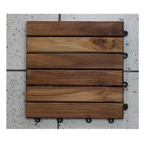 Deski tarasowe modułowe płytki 30x30cm teak olejowany klepka pojedyncza - produkt z kategorii- Deski tarasowe
