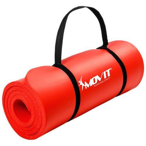 Czerwona mata piankowa 190x60x1,5cm do ćwiczeń / gimnastyki / fitness - czerwony / 190x60x1,5 cm marki Movit ®