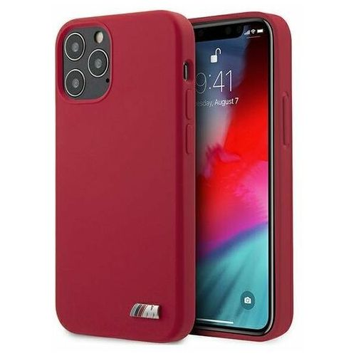 """Etui BMW BMHCP12MMSILRE iPhone 12/12 Pro 6,1"""" czerwony/red hardcase Silicone M Collection"""