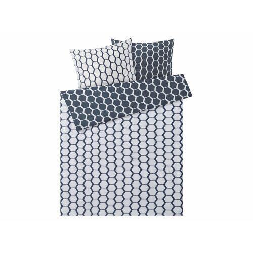 Meradiso® pościel satynowa 160 x 200 cm, 1 komplet (kropki/geometryczne)