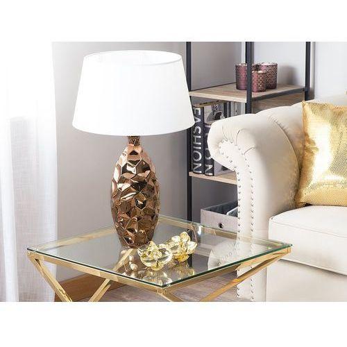Beliani Lampa stołowa złoty brąz 61 cm tori (4260624111377)