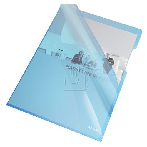 Ofertówka krystaliczna l 55435 a4/25szt.,150mic. niebieska marki Esselte