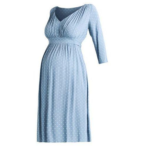 MAMALICIOUS MLKARIN 3/4 KNEE LENGHT DRESS Sukienka letnia ashley blue, w 4 rozmiarach