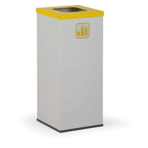 Kosz do segregacji śmieci z wewnętrznym pojemnikiem 50 l, szary/żółty marki B2b partner