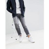 Bershka Skinny Jeans In Washed Black - Black, jeans