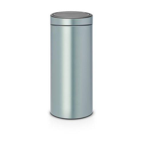 Brabantia - kosz touch bin - 30 l - plastikowe wiaderko - metaliczny miętowy - miętowy