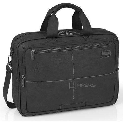 """Gabol Studio torba na ramię na laptopa 15,6"""" / czarna - czarny"""
