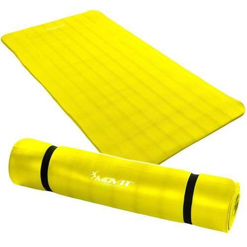 Żółta mata piankowa 190x100x1,5cm do ćwiczeń / fitness - żółty / 190x100x1,5 cm marki Movit ®