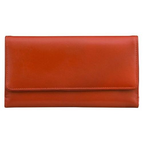 850f82643d5c5 Koruma® Damski portfel skórzany ochrona kart zbliżeniowych rfid (czerwony)  - czerwony połysk