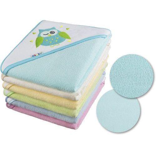 Akuku Okrycie kąpielowe 80x80 ręcznik z kapturkiem - kolory