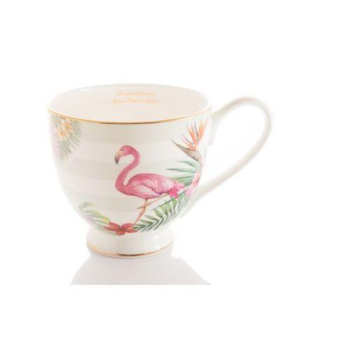Queen isabell Duży kubek na prezent z porcelany flamingi ptaki