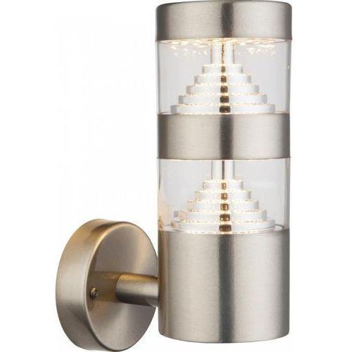 Globo celio zewnętrzny kinkiet led srebrny, 1-punktowy - nowoczesny - obszar zewnętrzny - celio - czas dostawy: od 6-10 dni roboczych marki Globo lighting