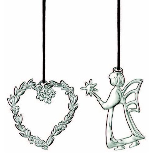 Zestaw ozdób świątecznych Rosendahl Karen Blixen 2 szt srebrne, 31478-X