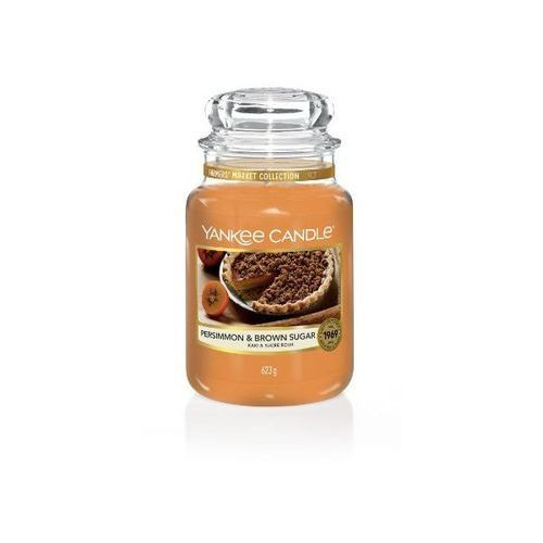 YANKEE CANDLE ŚWIECA PERSIMMON & BROWN SUGAR 623G, 5038581078441