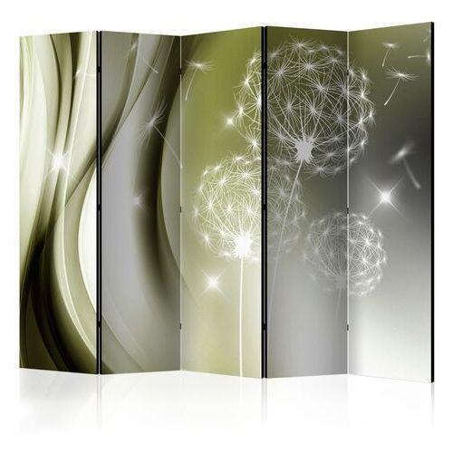 Parawan 5-częściowy - zielona delikatność ii [room dividers]