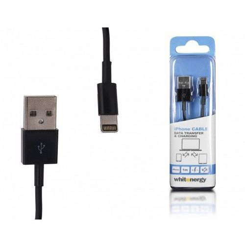Kabel WHITENERGY Lightning - USB 2.0 0.3m Czarny