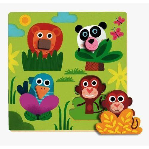 Djeco Puzzle układanka drewniana z uchwytami dżungla