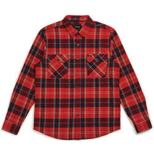 Brixton Koszula - bowery l/s flannel red/navy (rdnav) rozmiar: xl