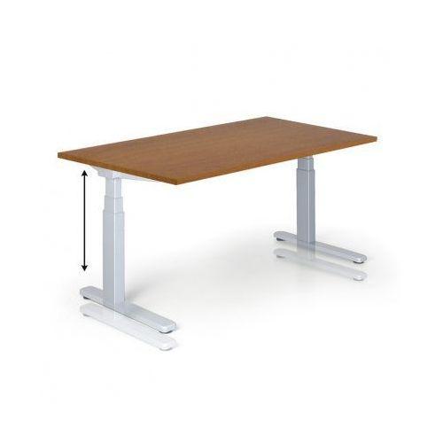 Stół z regulacją wysokości, 725-1075 mm, ręczny, 1600 x 800 mm, czereśnia