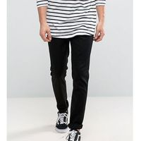 Nudie jeans tall lean dean slim tapered fit dry cold black - black