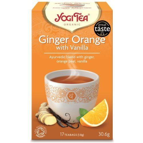 Yogi tea, usa Herbata imbir pomarańcza wanilia bio (yogi tea) 17 saszetek po 1,8g (4012824401778)